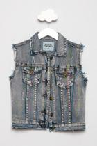 Paint Splatter Denim Vest
