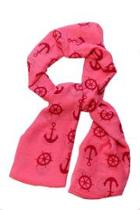 Nautical Pink Scarf