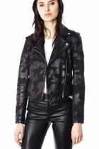 Camo Moto-leather Jacket
