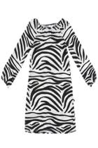 Zebra Peasant Dress