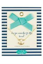 Pearl Anchor Necklace