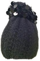 Black Paillette Beanie