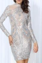 Sequin Longsleeve Dress