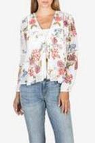 Floral Tiefront Blouse