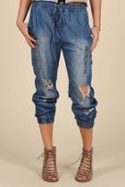 Distressed Cargo Pants