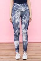 Abstract High-waist Leggings