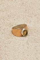 Copper Citrine Ring