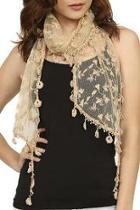 Lace Floral Scarf