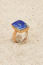 Copper Lapiz-lazuli Ring