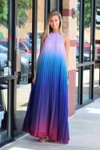 Ombre Open Back Maxi Dress