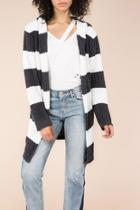 Hooded Stripe Cardigan