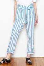 Belted Stripe Pants