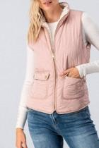 Reversible Quilted/sherpa Vest