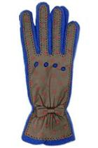 Brown Dots Leather Glove