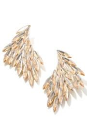 Jewel Feather Drop Earrings