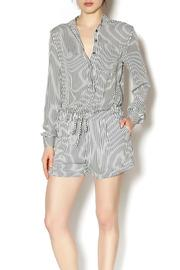Ruby And Jenna Long Sleeve Stripe Romper