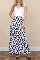Polkadot/side, Self-tie Maxi Dress