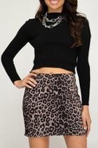 Suedette Leopard Skirt