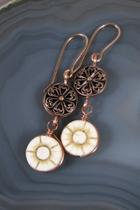 Floral Copper Earrings