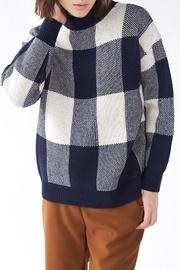 Navy Checkered Sweater
