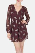 Ruffled Feathers Mini Dress