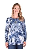 Tie-dyed Knit Tunic
