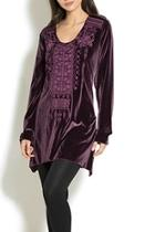 Velvet Embroidered Tunic