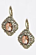 Pink-crystal Vintage Earrings