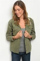 Olive Embroidered Jacket