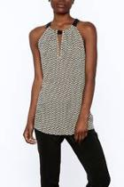 Printed Sleeveless Long Top