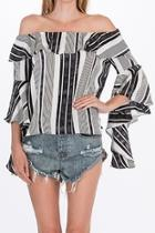 Striped Offshoulder Blouse