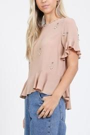 Beaded Shortsleeve Top