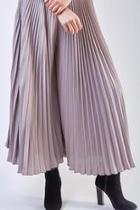 Pleated Wide Culottes