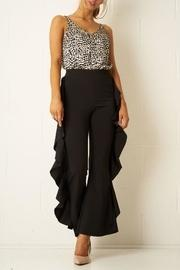 Black Side-frill Trousers