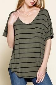 Olive Striped Tee