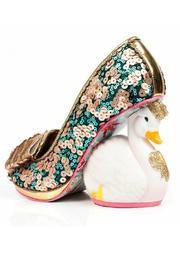Sequin Swan Heels