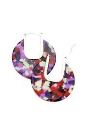 Multi-color Disc Earrings
