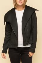 Asymm Bottom Zipup Jacket