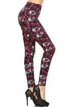 Plus Plaid-hearts Leggings
