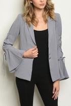 Lace Up, Bell Sleeve Blazer