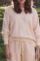 College Sweatshirt With Spring Print