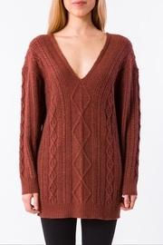 Vee Cableknit Sweater