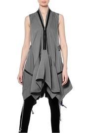 Drawstring Zipper Dress