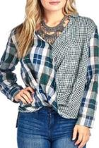 Mix Plaid Shirt