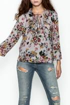 Ruffled Lace Up Top