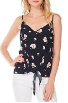 Front-tie Floral Tank