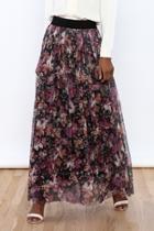 Multicolor Pleated Skirt