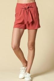 Orange Belted Shorts