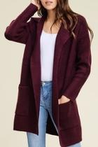 Sweater Knit Coat