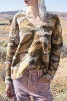 Camo Slouchy Sweater